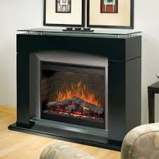 dimple laa black electric fireplace mantel package contemporary mantels 11