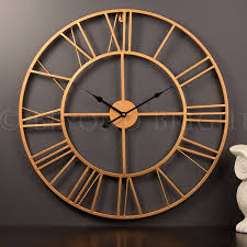 full image for amazing copper wall clock 113 karlsson wall clock copper large cm copper wall