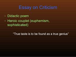 essay on criticism alexander pope essay on criticism