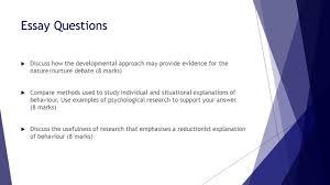 issues and debates  ethnocentrism  nature nurture  ethics  13 essay questions