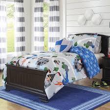 kids bedding set twin comforter toddler boys sheets piece boy blue gray light pink linen girls