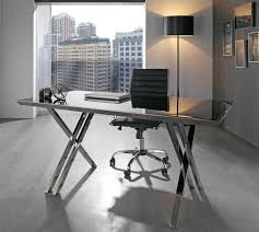 Chrome Office Desk Glass And Contemporary With Within Prepare 8  Zeugmaworkscom