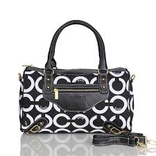 Coach Logo In Monogram Medium Black Luggage Bags Outlet Factory Price