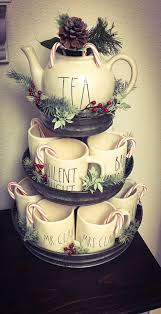 If you're not satisfied with the quality of mr. Hobby Lobby 3 Tier Galvanized Stand Is Perfect For My Rae Dunn Mug Collection All Decked Out For Christmas Christmas Kitchen Christmas Tea Tiered Tray Decor