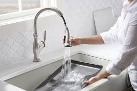 kitchen home depot faucets ideas:  interior kohler kitchen faucets home depot industrial light fixture tray ceiling paint ideas  marvelous