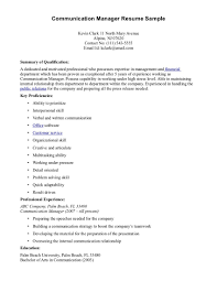 Resume Communications Resume