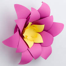Flower Made In Paper Lotus Stock Paper Flower For 3d Wall Decor