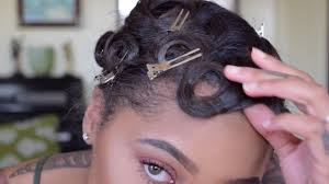 Pin Curl Hair Style how to pin curl & style short hair youtube 3570 by stevesalt.us