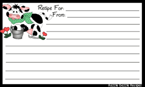 Free Recipe Cards | Kitchen And Recipe Related Graphics Including ...