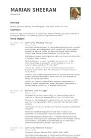 Community Relations Manager Resume Samples Visualcv Resume Samples