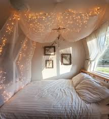 bedroom with string lights teen vogue