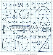Math Formula Chart For Geometry Doodle Maths Geometry Concept Trigonometry Functions Stock