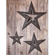 3 decorative wall hanging metal stars