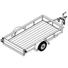 4 x8 utility trailer plans model 1108 2 000 lb or 3 500 lb axle option johnson trailer parts