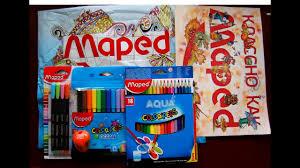 Тест карандашей и <b>фломастеров Maped ColorPeps</b> - YouTube