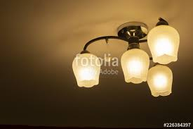 pendant light with modern light bulb chandelier in ambient light