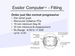 Essilor Computer Lens Fitting Chart Design Of Occupational Lenses Ppt Video Online Download