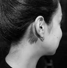 Cute Behind The Ear Tattoo