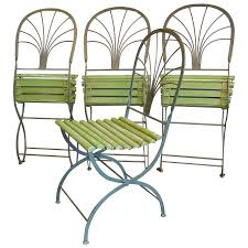 deco garden furniture. Art Deco Period Folding Garden Chairs, Stylized Palm Trees, Set Of Four For  Sale Deco Garden Furniture 1stDibs