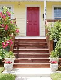 white front door yellow house. Incredible Red Door With Yellow House Exterior Color For Front Black Shutters Trend And Styles White