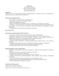 Phlebotomy Resume Objective