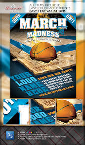March Madness Flyer March Madness Basketball Flyer Template On Behance