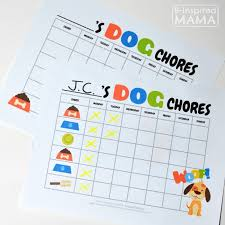 Make Family Dog Care Easy With This Printable Chore Chart