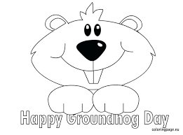 Small Picture Groundhog Coloring Book Pages Day Page Free Or Woodchuck