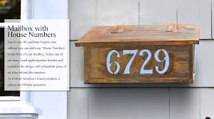 custom wall mount mailbox. Delighful Mount Custom Mailbox With House Numbers Throughout Wall Mount L
