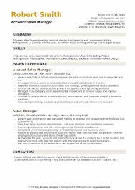 Account Sales Manager Resume Samples Qwikresume