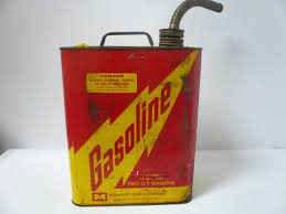 vintage gas can. vintage midwest can company 2 gallon metal gas s