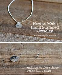 how to make hand stamped jewelry via lilblueboo com