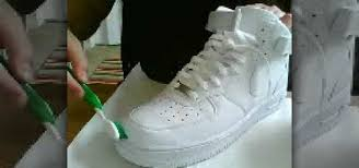 how to clean a pair of white nike air force ones housekeeping wonderhowto