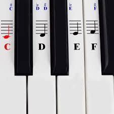 61 Key Keyboard Note Chart Piano Stickers For 49 61 76 88 Key Keyboards