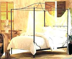 Metal Canopy Bed Frame Queen King Metal Canopy Bed Canopy Bed Frames ...