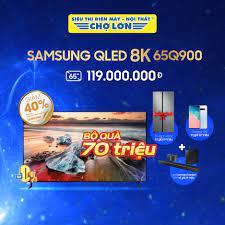 Siêu Thị Điện Máy - Nội Thất Chợ Lớn - QLED Tivi 8K SAMSUNG 65 Inch 65Q900  giá: 119.000.000 - Bộ quà 70 triệu: Loa thanh Harman/Kardon Q90 + Galaxy  S10 +