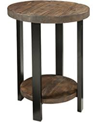 rustic round end table. Alaterre AZMBA1520 Sonoma Rustic Natural Round End Table, Brown Table A