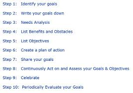 steps to goal setting 10 steps to goal setting