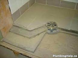 tile shower pan beautiful building a best ideas on installation base diy
