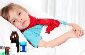 Risultati immagini per child ill in bed