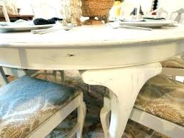 distressed round dining table white with 6 and chairs tab
