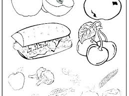 Fruit And Veggies Coloring Pages Fruits Of Vegetables Vegetable