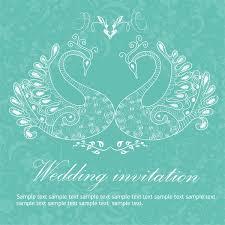 Free Invitation Background Designs Wedding Invitation Background Peacocks Free Vector In Adobe