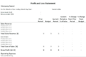 Sample P And L In Excel Profit And Loss 7 P L Statement Template Pl Pdf Excel