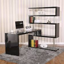 home office shelf. HomCom Rotating Home Office Corner Desk And Shelf Combo Home Office Shelf