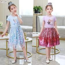 Đầm hoá trang công chúa elsa cho bé gái giá rẻ – DoChoBeYeu.com