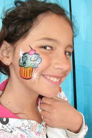 2 cupcake face paint design ideas