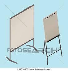 Whiteboard Flip Chart Flip Chart Whiteboard Isometric Vector Clipart K34376300