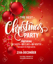 Christmas Design Template Vector Christmas Party Design Template Royalty Free Cliparts