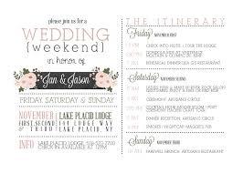 001 Template Ideas Destination Wedding Itinerary Wonderful